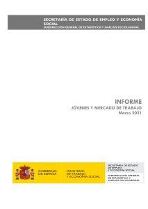 Informe Jovenes y Mercado de Trabajo 2021 Minsterio de Trabajo