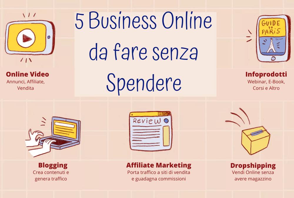 5 Business online che puoi iniziare senza soldi