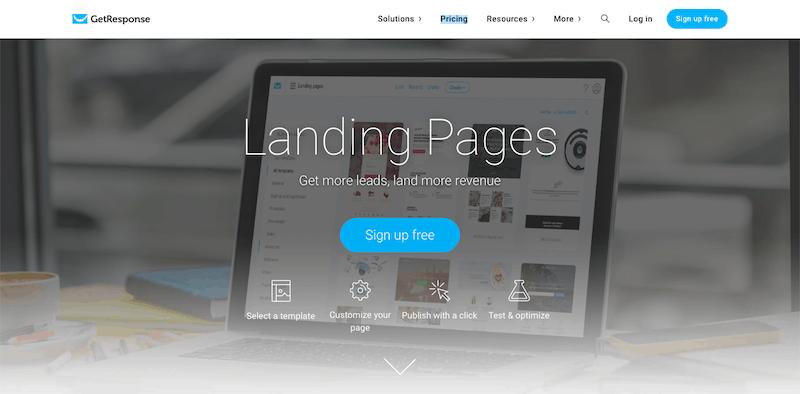 get response landing page