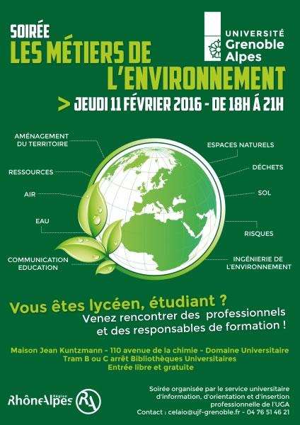 conférences métiers de l'environnement à Grenoble