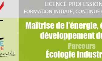 licence professionnelle écologie industrielle