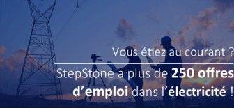 offres d'emploi électricité Stepston