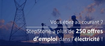 offres d'emploi électricité Stepstone