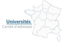 carnet d'adresses des universités