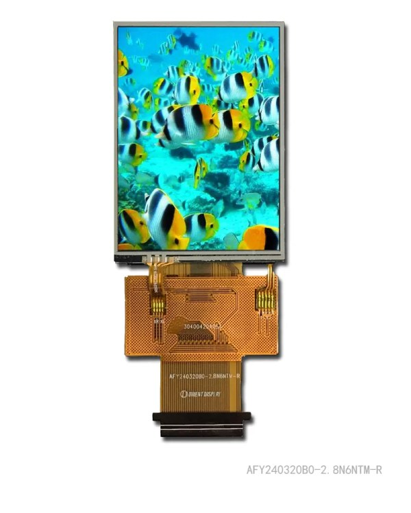 """2.8"""" TFT, 240x320, 370 Nits with Resistive Touch Panel"""