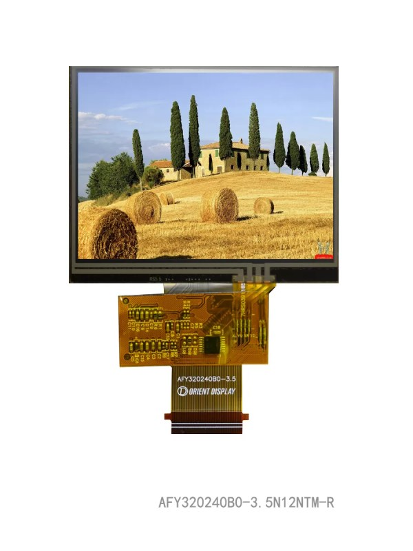 """3.5"""" TFT, 320x240, 440 Nits with Resistive Touch Panel"""