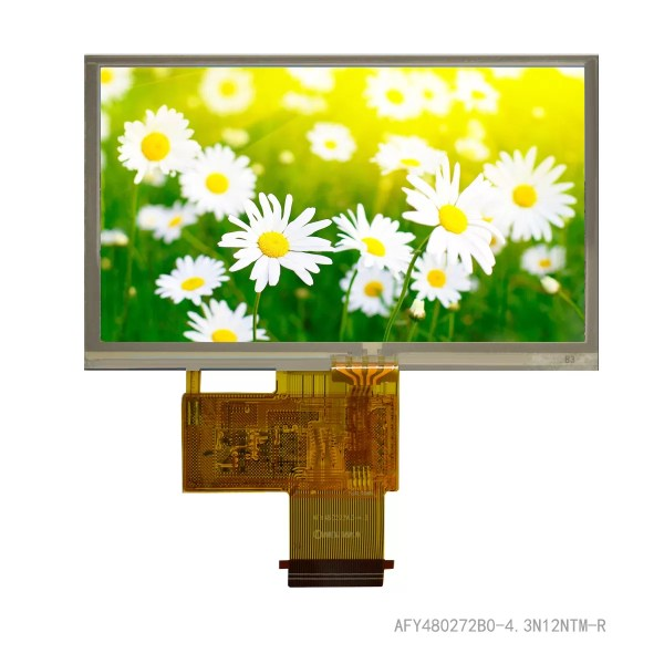 """4.3"""" TFT, 480x272, 420 Nits, with Resistive Touch Panel"""