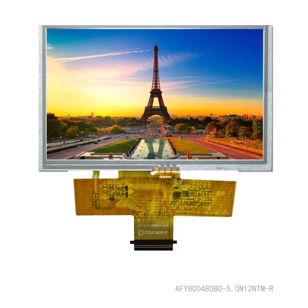 """5.0"""" TFT, 800x480, 380 Nits with Resistive Touch Panel"""