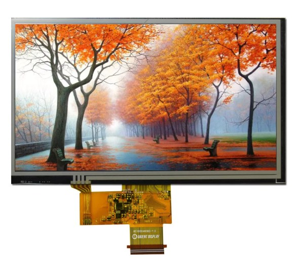 """7.0"""" TFT, 800x480, 500 Nits with Resistive Touch Panel"""