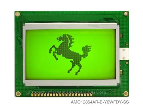 """AMG12864AR-B-Y6WFDY-SS (modulo LCD grafico 2.9"""" 128x64) NO DC-DC"""