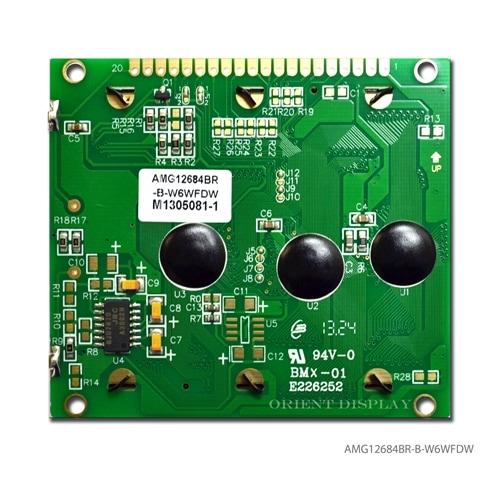"""AMG12864BR-B-W6WFDW-NV (modulo LCD COB da 2.7"""" 128x64)"""
