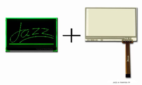 JAZZ-A-T6WFDG-TP (LCD+BL+RTP Graphic COG 128x64)