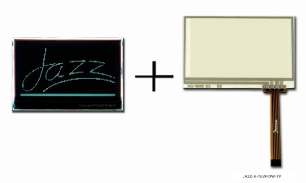 JAZZ A-T6WFDW-TP (LCD+BL+RTP Graphic COG 128x64)