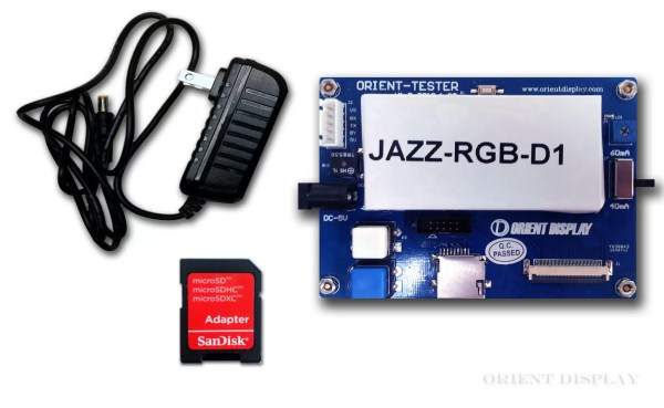 """JAZZ-RGB-D1 (Demo Board for 3.5"""", 4.3"""", 5.0"""", and 7.0"""" TFTs)"""