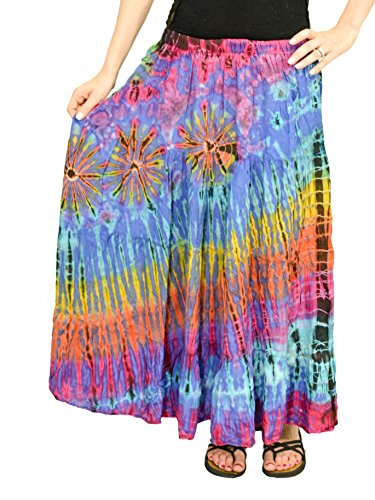 Orient Trail Women's Hippie Long Tie-dye Peasant Boho Gypsy Skirt US Size 0-14