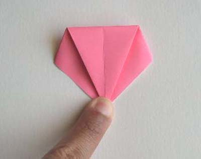 Origami Lily flower photo diagrams 8