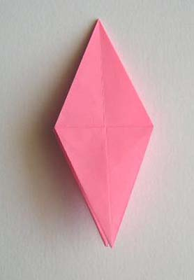 Origami Lily flower photo diagrams 15