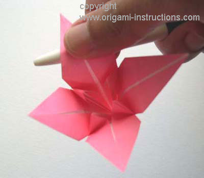 Origami Lily flower photo diagrams 19