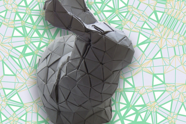 Voronoi tessellations and origami