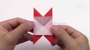 4 star flower petal origami origamitree.com