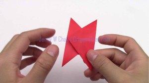 5 4 star flower petal origami origamitree.com