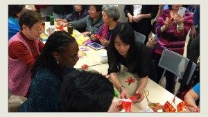Origami Lesson with First Lady McCray