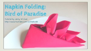 bird of paradise napkin folding origamitree.com