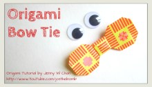 origami bow tie origamitree.com