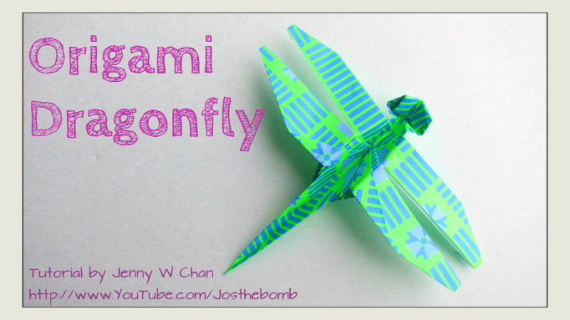 How to make a traditional origami dragonfly: page 13 | 449x800