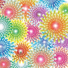 Fireworks - Free Printable Origami Paper