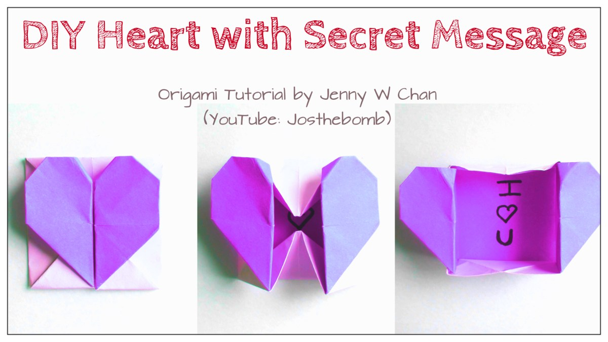 Origami Heart with Secret Message