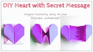 origami heart with secret message origamitree.com