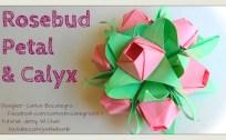 rosebud petal and calyx origami origamitree.com