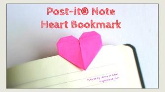 heart bookmark origami origamitree.com