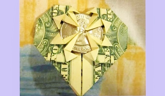 $1.25 Heart - Money Origami