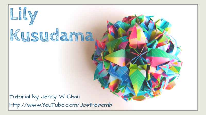 Origami Lily Kusudama