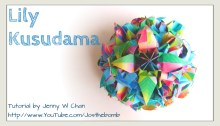 lily kusudama origami origamitree.com