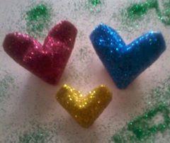 Origami 3D Hearts with Glitter, Savina A.K. | TUTORIAL: http://wp.me/p5AUsW-5C