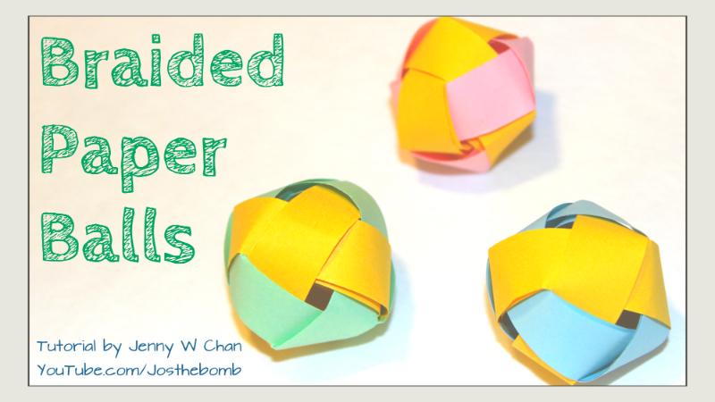 Braided Paper Balls / Beads