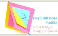 postit note origamitree.com origami
