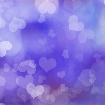 Purple Hearts - Free Printable Origami Paper
