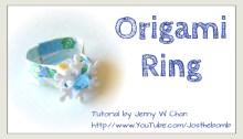 origami ring origamitree.com