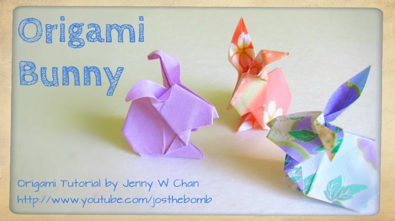 Easy Origami Bunny - YouTube | 449x800