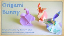 Origami bunny origamitree.com