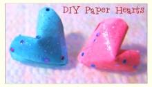 glittered hearts origami origamitree.com