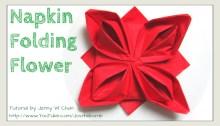 rose napkin folding origami origamitree.com