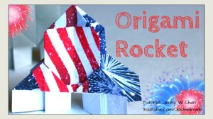 Origami Rocket Tutorial | Origami Tree