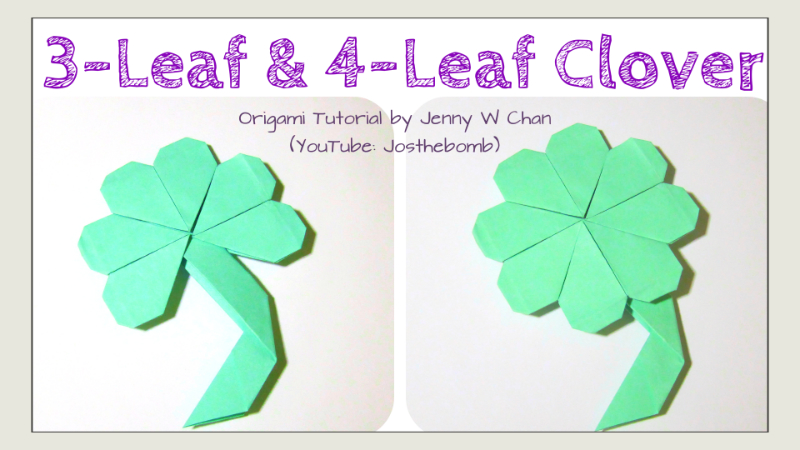 Origami 3- or 4-Leaf Clover