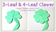 3 or 4 leaf clover origami origamitree.com