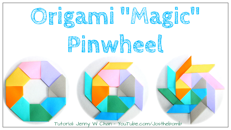Origami Ninja Star (a.k.a. Pinwheel, or Magic Circle)